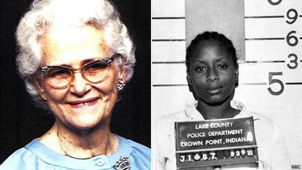Quando ainda era adolescente, Paula Cooper (à dir.) matou Ruth Pelke a facadas (Foto: BBC)