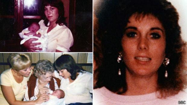 Coleção de fotos mostra momentos íntimos de Linda White com sua filha, Cathy, que foi assassinada (Foto: Arquivo pessoal/BBC)