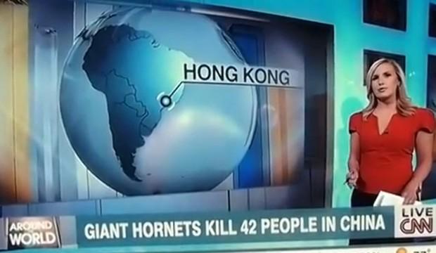 Jornal errou animação e colocou a cidade de Hong Kong, na China, como se fosse no Brasil (Foto: Reprodução/YouTube/Ron Guilmette)