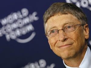 O fundador da Microsoft e filantropo Bill Gates participa de um dos paineis do Fórum Econômico de 2013, onde ele também participou de campanha de combate à Aids, Tuberculose e Malária. (Foto: Pascal Lauener/Reuters)