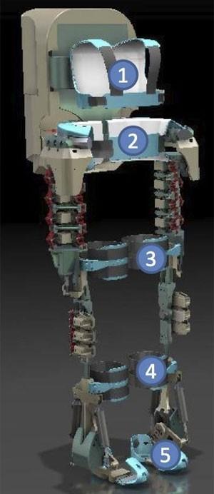 Imagem do exoesqueleto publicada no perfil de Nicolelis no Facebook (Foto: Reprodução/Facebook/Miguel Nicolelis)