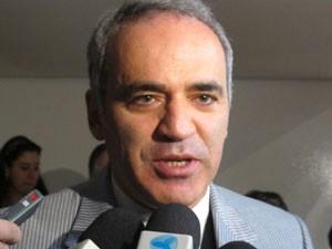 Gary Kasparov é considerado por muitos o maior enxadrista de todos os tempos (Foto: Paulo Guilherme/G1)