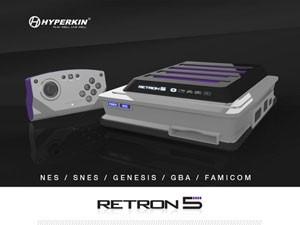 MOdelo anterior do Retron 5 antes da mudança para receber o adaptador de Master System (Foto: Divulgação/Hyperkin)