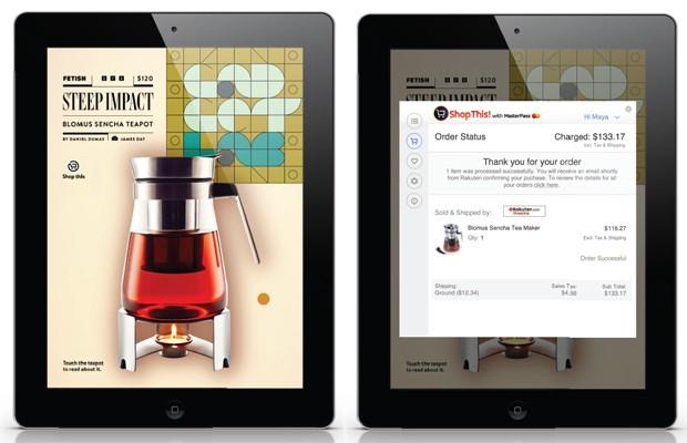 Tecnologia da MasterCard permite comprar em revista para iPad a partir de anúncios (Foto: Divulgação/MasterCard)