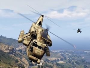 'GTA V' terá perseguições de helicóptero (Foto: Divulgação/Rockstar)