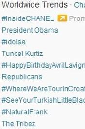 Trending Topics no Mundo às 17h04. (Foto: Reprodução/Twitter.com)