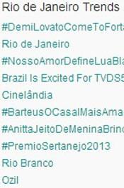 Trending Topics no Rio às 17h07. (Foto: Reprodução/Twitter.com)