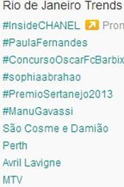 Trending Topics no Rio às 17h17. (Foto: Reprodução/Twitter.com)