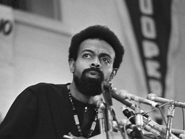 O poeta, dramaturgo e ativista Amiri Baraka durante a Convenção Política Negra eGary, Indiana, em 12 de março de 1972 (Foto: Julian C. Wilson)