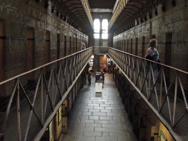 Passeio pelo Old Melbourne Gaol (Foto: Flávia Mantovani/G1)