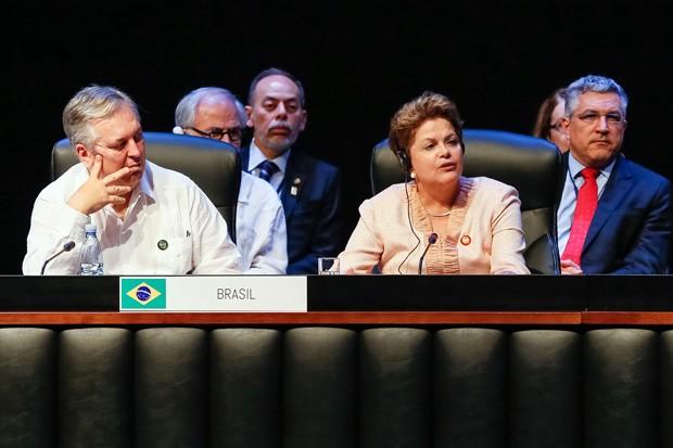 A presidente Dilma Rousseff discursa na 2ª cúpula da Celac, em Cuba (Foto: Roberto Stuckert Filho / Presidência)