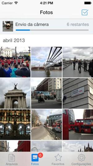 Tela do aplicativo do Dropbox (Foto: Divulgação/Dropbox)