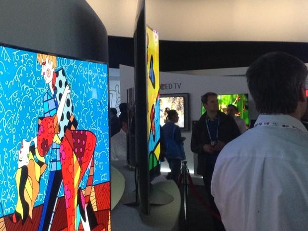 LG apresentou Tvs com resolução 4K e tela curva (Foto: Gustavo Petró/G1)