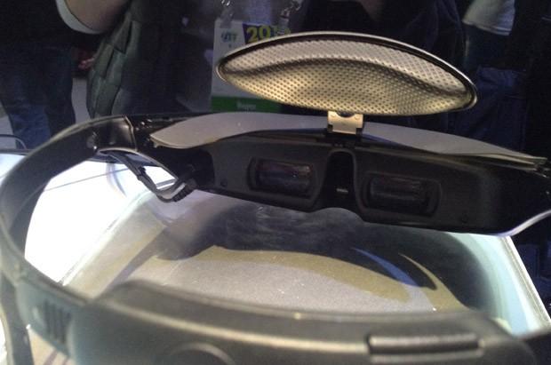 Lentes dos óculos da Sony (Foto: Gustavo Petró/G1)