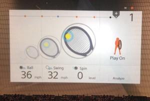 Interface do aplicativo para smartphones que usa o sensor para monitorar desempenho no tênis (Foto: Gustavo Petró/G1)
