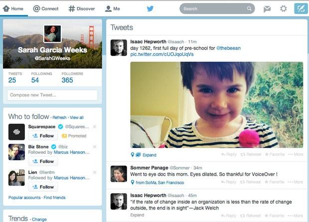 Twitter muda o visual de sua versão para a web (Foto: Divulgação/Twitter)