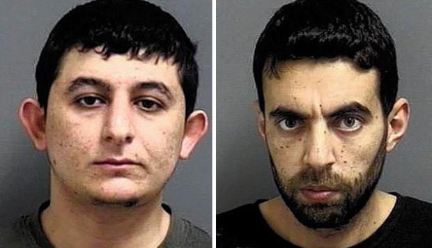 Theaier Kartoum e Omar Daraghma foram presos após roubarem caminhão com R$ 145 mil em sabão em pó (Foto: Divulgação/Orland Park Police Department)