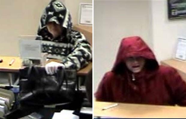 Mulher gritou 'estou de volta' ao assaltar o mesmo banco pela segunda vez no Texas (EUA) (Foto: Divulgação/FBI)