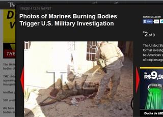 Site publicou imagens de militares queimando corpos de iraquianos em 2004 (Foto: TMZ/reprodução)