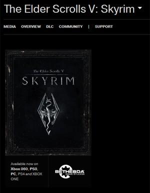 Site da Bethesda aponta versões de 'Skyrim' para PS4 e Xbox One (Foto: Reprodução/Bethesda)