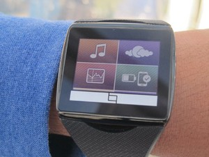 Toq, relógio inteligente da Qualcomm, foi exibido na CES 2014. (Foto: Gustavo Petró/G1)