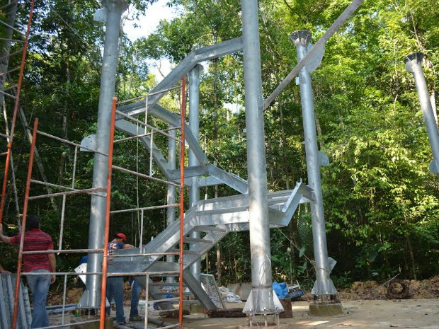 Torre terá 40 metros de altura (Foto: Divulgação/Museu da Amazônia)
