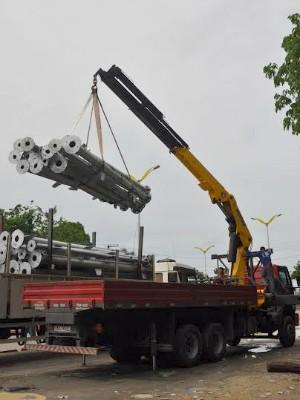 O material utilizado na montagem da torre veio de Cuiabá, no Mato Grosso (Foto: Divulgação/Museu da Amazônia)