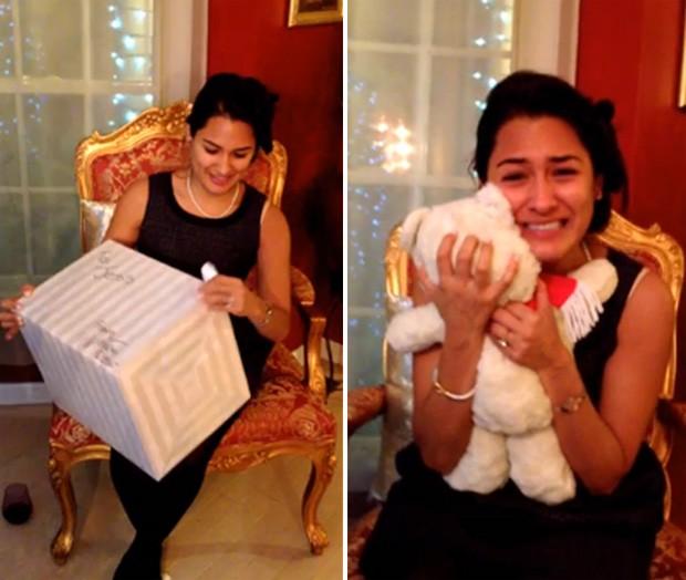 Homem fez surpresa emocionante ao restaurar brinquedo de infância da noiva (Foto: Reprodução/YouTube/Vas Alli)