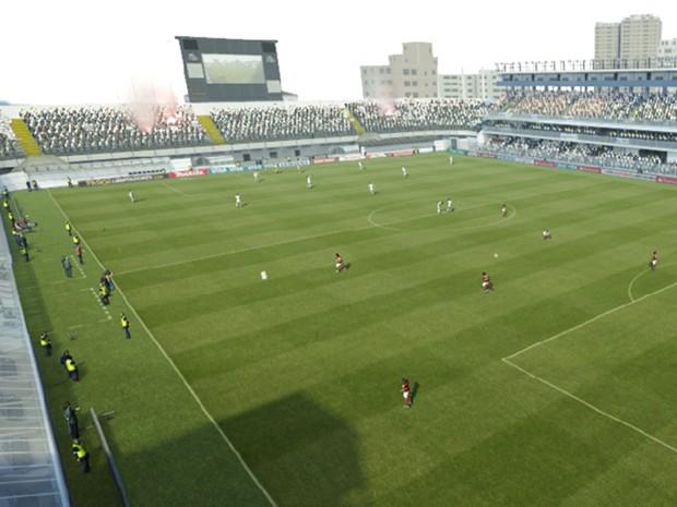 Vila Belmiro apareceu pela primeira vez em Pro Evolution Soccer 2013 (Foto: Divulgação)