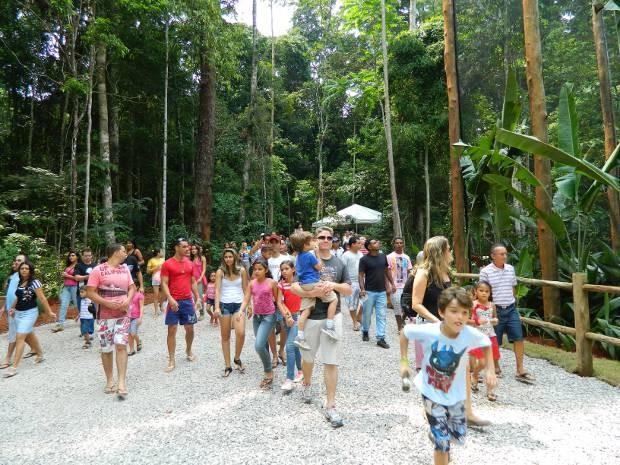 Em 2013, mais de 130 mil pessoas visitaram o parque. (Foto: Divulgação/ Vale)
