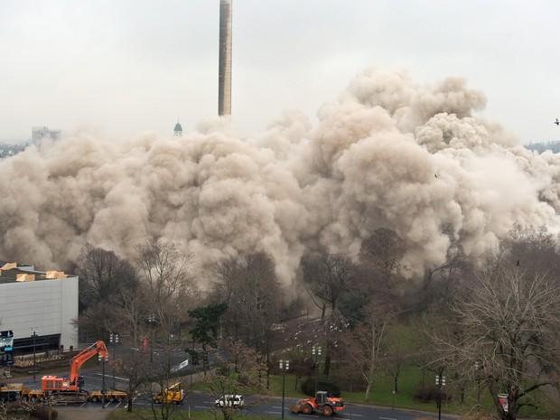 No local do edifício, serão construídos dois prédios de escritórios (Foto: BORIS ROESSLER / DPA / AFP)