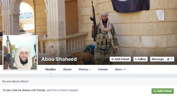 Abou Shaheed foi combater na Síria (Foto: Reprodução/Facebook)