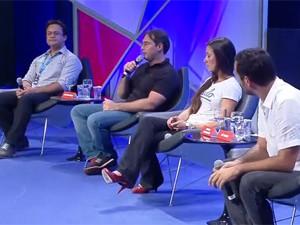Debate realizado durante o programa 'Navegador' na Campus Party (Foto: Reprodução/G1)