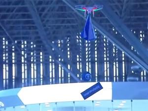 Drone sobrevoa a Campus Party (Foto: Reprodução/G1)