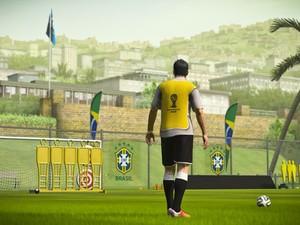 Cena do modo de treino do jogo oficial da Copa 2014 (Foto: Divulgação/Electronic Arts)