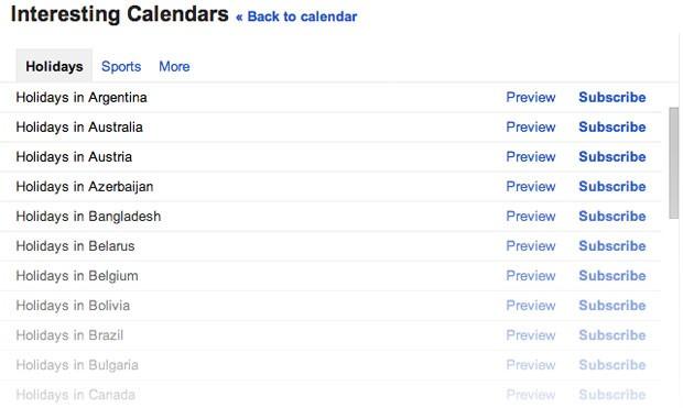 Google incluirá os feriados de mais 30 países, entre eles o Brasil, no Calendar. (Foto: Divulgação/Google)
