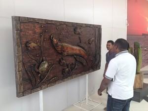 Obras são marcadas com traços das culturas indígenas Maracá e Cunani (Foto: John Pacheco/G1)