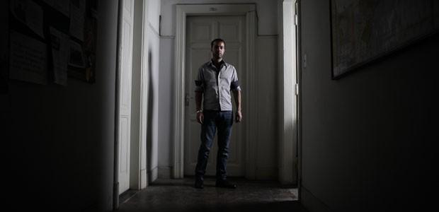 O refugiado sírio diz que gosta do Brasil. 'Aqui tenho minha liberdade', diz ele (Foto: Caio Kenji/G1)