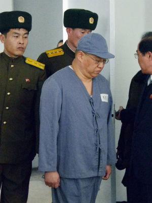 Kenneth Bae em 20 de janeiro de 2014 (Foto: Reuters/Kyodo/Files)