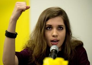 Nadezhda Tolokonnikova agora é ativista da Anistia Internacional (Foto: Don Emmert/AFP)