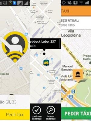 Cresce o uso de aplicativos para chamar táxi no país (Foto: Montagem/Divulgação)
