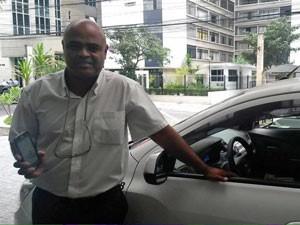 Taxista disse que faturamento aumentou em até 25% (Foto: Gabriela Gasparin/G1)
