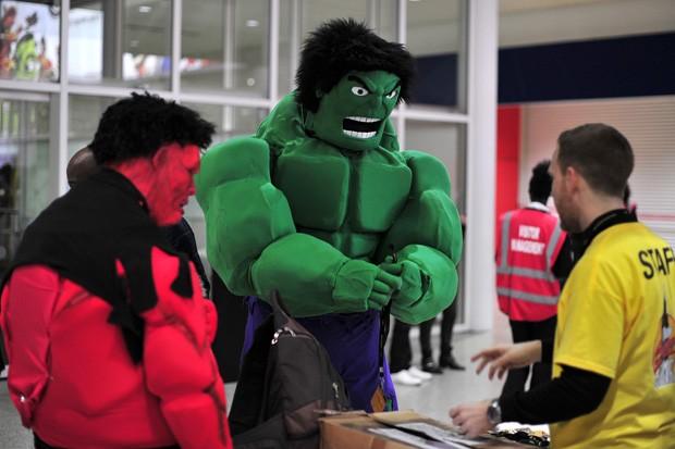 Incrível Hulk não podia deixar de prestigiar o evento (Foto: Comic Convention)