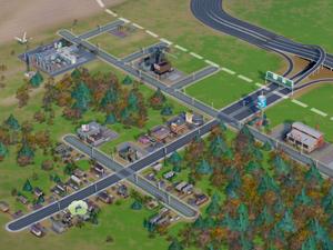 No 1º mês, fundações da cidade foram feitas em 'SimCity' (Foto: Reprodução/G1)