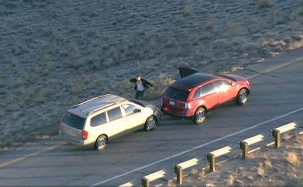 Stone roubou mais dois veículos durante sua tentativa de fuga pelas estradas do Colorado (Foto: BBC)