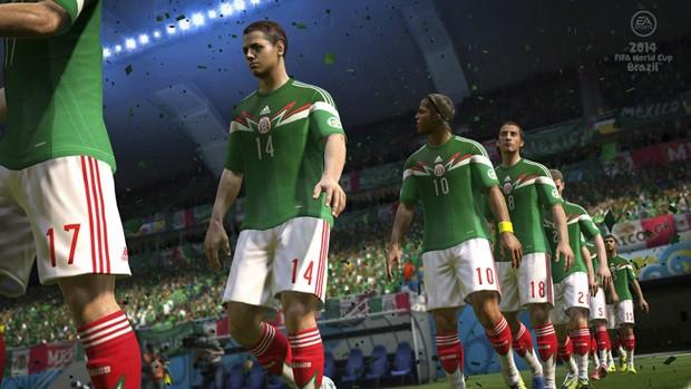 Seleção do México em game 'Copa do Mundo Fifa Brasil 2014' (Foto: Divulgação/Electronic Arts)