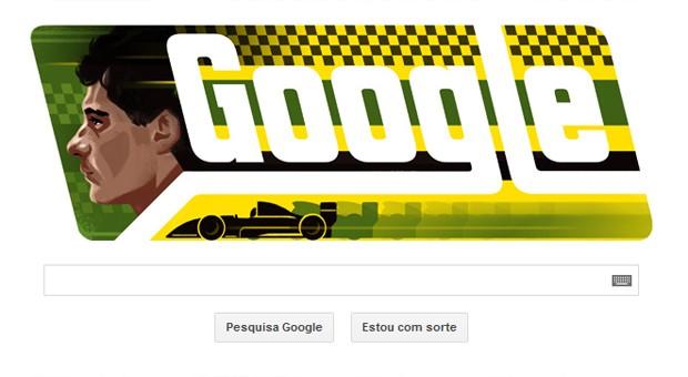 Doodle do Google homenageia Ayrton Senna (Foto: Reprodução/Google)
