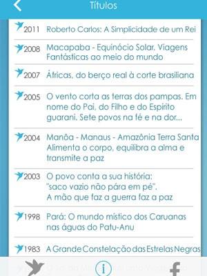 Alguns dos treze títulos da Beija-Flor (Foto: Reprodução / Apple)