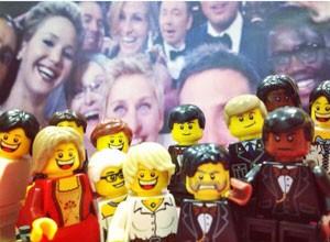 aródia da 'selfie' do Oscar divulgada pela Lego. (Foto: Reprodução/Twitter/@Lego_Group)