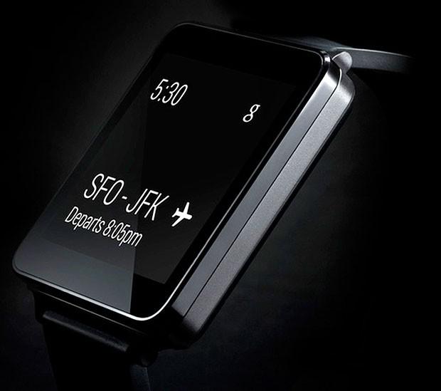 Relógio inteligente da LG, que rodará o sistema Android Wear, do Google. (Foto: Divulgação/LG)